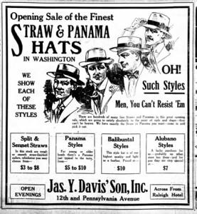 Annuncio giornale 1919 Panama style