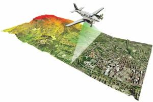 Un esempio di mappatura del terreno con il LIDAR, tecnologia usata in molti ambiti, dalle prospezioni idrogeologiche alle ricerche archeologiche.